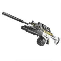 AWM狙击抢求生手自M4一体玩具枪M416黄金龙骨电动连发*绝地