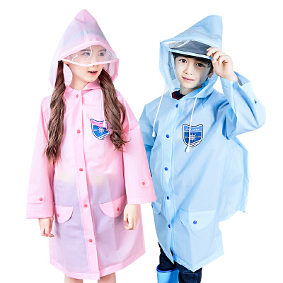 KK树儿童雨衣男女童带书包位小学生时尚防水雨披幼儿园宝宝雨衣潮环保轻柔 反光条 4岁以上及成人尺码多色