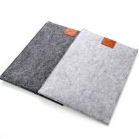 羊毛毡苹果笔记本电脑内胆包保护套 i/13/15寸 浅灰色I ini