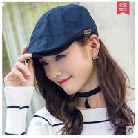 帽子女士贝雷帽韩版春秋季新款鸭舌帽女百搭休闲帽时尚帽子女