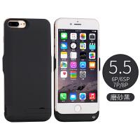 苹果7/8X背夹式充电宝20000毫安6s无线电池iphone6plus背甲一体充6sp手机专用 磨砂黑6P/6sP/