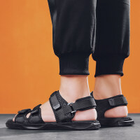 夏季男士拖鞋2019新款一字拖沙滩鞋软底休闲按摩防滑耐磨凉鞋男鞋