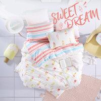 �和�床上用品四件套全棉�棉被套床�稳�件套女卡通公主�L