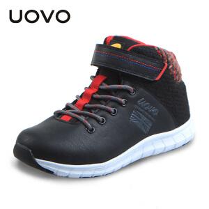 UOVO冬季新款儿童运动鞋男童休闲鞋时尚高帮童鞋 扎什伦布