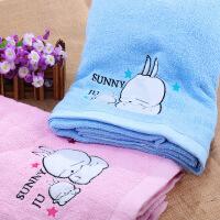 婴儿童纯棉吸水毛巾长方形加大款方巾浴巾宝宝抱盖毯
