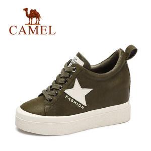 camel 骆驼女鞋  秋冬新品简约舒适时尚印花平跟休闲鞋单鞋潮
