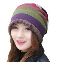 帽子女冬天毛线帽秋冬针织帽包头帽保暖堆堆帽冬帽