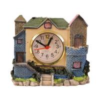 儿童床头摆件 学生城堡闹钟 仿古罗马时代老房子时钟 别墅造型树脂工艺品 送朋友生日礼物 款式随机