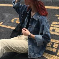 牛仔外套女韩版宽松学生秋季2019上衣服长袖大码女装200斤 蓝色 M 85-100斤