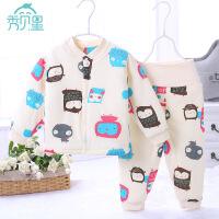 婴儿冬装加厚棉衣套装男女宝宝纯棉保暖棉袄初生儿冬季外出夹