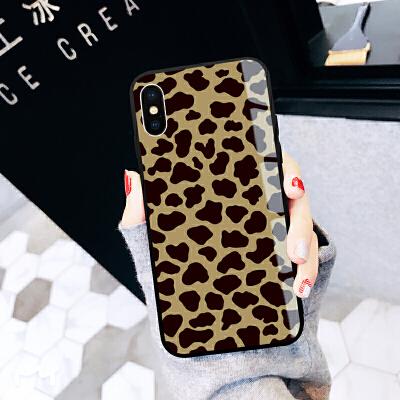 苹果iPhone xs max手机壳iPhone xr豹纹奢华8女款xs玻璃x潮牌8pl iPhone xs max-全豹纹