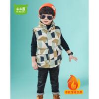 【3件2折�r83元】木木屋童�b男童棉�R甲2020�和�春秋冬新款中大童春�b男孩�R�A外套�n版潮