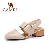 camel骆驼女鞋 夏季新品 休闲包头女凉鞋 舒适松紧带凉鞋