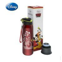 迪士尼新款创意双盖保温杯 卡通极限运动壶 经典便携吸管水杯