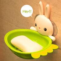 御目 香皂盒 肥皂盒吸盘壁挂式香皂盒浴室卫生间置物架强力可爱沥水创意肥皂架子厨卫用品家居装饰品