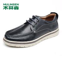木林森男士休闲鞋 2017秋季新款户外皮鞋英伦时尚潮鞋板鞋男士鞋子77053320