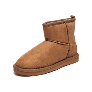 美特斯邦威女基本净色雪地靴286919