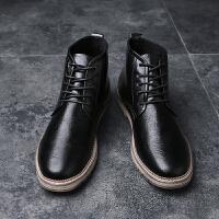 马丁靴男英伦皮靴冬季高帮男防水长筒靴子男士潮流马丁鞋冬款休闲鞋