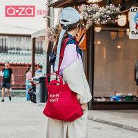 【立减100】aza帆布包女2019夏季新款女包港风潮酷托特包手提包大容量单肩包