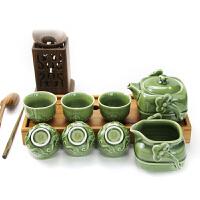 乾唐轩活瓷杯四方如意茶具1壶1海6杯功夫茶具茶壶茶海茶杯礼盒装