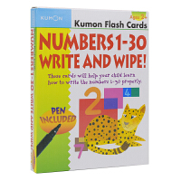 Kumon Flash Cards Numbers 1-30 Write And Wipe Ages 2+ 公文式教育