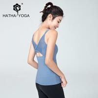 哈他活力瑜伽运动背心女跑步健身美背吊带长款修身速干瑜珈上衣夏