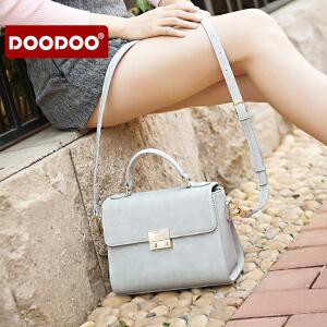 【支持礼品卡】DOODOO 女士手提包包新款2018时尚潮流小方包百搭单肩斜挎女包小包 D6210