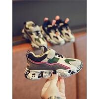 秋冬季儿童鞋子拼色透气女童休闲鞋男童运动鞋宝宝老爹鞋