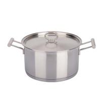 汤锅24cm复底直身煮锅304不锈钢汤锅厚复底电磁炉通用