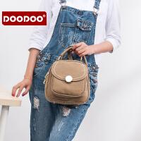 【支持礼品卡】DOODOO 双肩包女韩版背包学院风女士包包简约百搭2018新款潮书包女 D6226