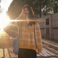 秋冬季韩版网红针织衫毛衣女学生慵懒风宽松上衣外套女潮