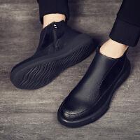 男款马丁靴切尔西中帮靴子高帮潮男士英伦短靴2019新款工装鞋