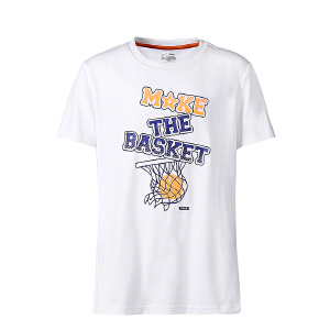 【全场!每满100减50】鸿星尔克童装儿童运动T恤童鞋男童篮球T恤童鞋圆领套头T恤