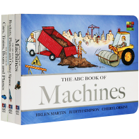 华研原版 ABC Book of Machines儿童机械交通工具外太空科普入门书 英文纸板书启蒙认知绘本