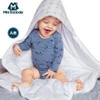迷你巴拉巴拉婴儿男女宝宝包被秋冬装新款儿童纯棉保暖被子防风