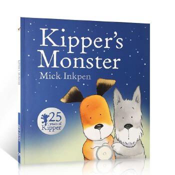 英国进口25周年版 小狗奇普和怪兽 Kipper's Monster 廖彩杏书单推荐第44周 第84本 儿童启蒙图画故事书 亲子共读平装英文原版绘本