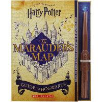 哈利波特:霍格沃茨活点地图指南 英文原版 附发光魔杖 HarryPotter 电影周边 Marauder's Map Guide to Hogwarts