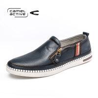 Camel Active/骆驼动感男鞋侧拉链休闲乐福鞋青年板鞋潮流学生鞋