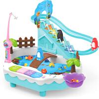 磁性小猫钓鱼竿儿童钓鱼玩具池套装12月34岁半宝宝益智男女孩