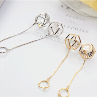 耳环女韩国时尚气质长装饰耳饰隐形耳夹耳饰品配饰