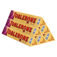 Toblerone瑞士三角 亿滋进口 巧克力含葡萄干及蜂蜜巴旦木糖100g*6条 (瑞士进口)  休闲零食