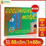 进口英文原版绘本goodnight moon 月亮晚安 Top100本好书推荐 平装 廖彩杏推荐书单儿童英语绘本睡前故