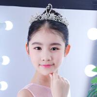 女童头饰皇冠儿童王冠发箍女童公主天鹅皇冠舞蹈演出主持走秀皇冠