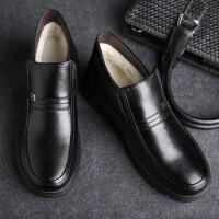 冬季棉鞋男真皮保暖加绒雪地棉靴中老年爸爸鞋高帮鞋男鞋棉皮鞋