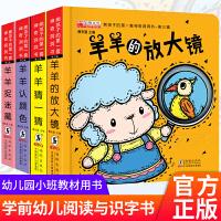 熊孩子的第一套神奇洞洞书 第三辑 共4册 塑封(羊羊的放大镜+羊羊猜一猜+羊羊认颜色+羊羊捉迷藏)