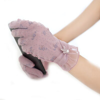 夏季防晒手套女短款蕾丝触摸屏户外骑车开车薄款手套