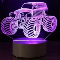 LED床头灯 3D创意台灯 卧室小台灯 汽车造型送朋友书桌台灯 爱心造型送女朋友浪漫礼物 两款可选