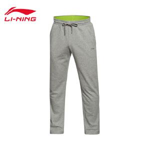 李宁卫裤男士运动生活系列长裤直筒针织运动裤AKLJ035-5