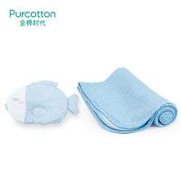 全棉时代 婴儿纱布隔尿垫1条+婴儿纱布定型枕1个组合