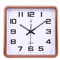 墙上挂钟带夜光工艺挂钟孔雀开屏北极星挂钟表现代简约静音夜光带日历客厅20英寸方形电子石英钟 20英寸